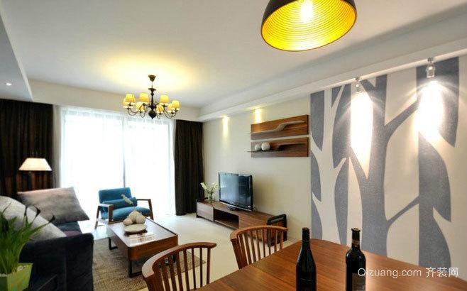 80平米蓝色多瑙河惬意单身公寓装修效果图