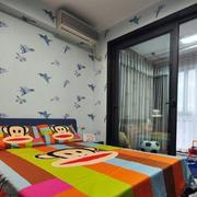 卡通卧室背景墙壁纸设计