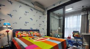 两室一厅欧式奢华带隔断效果的卧室装修效果图
