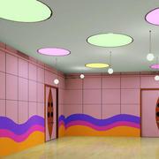 幼儿园教室彩色灯饰