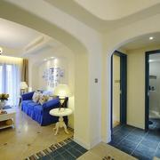 三室一厅家居房屋拱形门设计