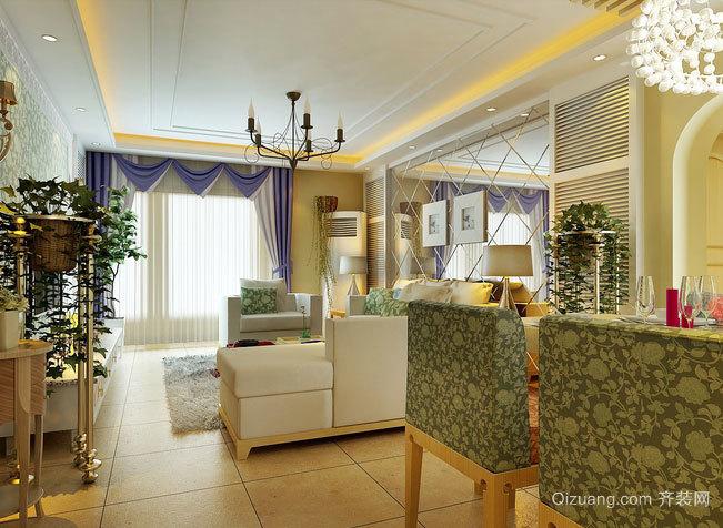 田园清新的三室一厅室内设计装修效果图