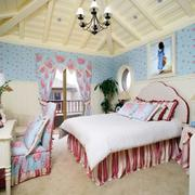 温馨的别墅卧室壁纸图