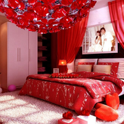 喜庆的婚房展示图片