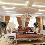 奢华欧式客厅窗帘图