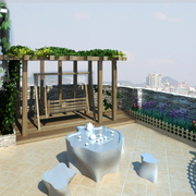简约屋顶露台花园图片