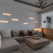 客厅奇特沙发背景墙图