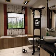 中式古典卫生间图片