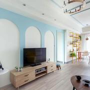 公寓电视背景墙展示