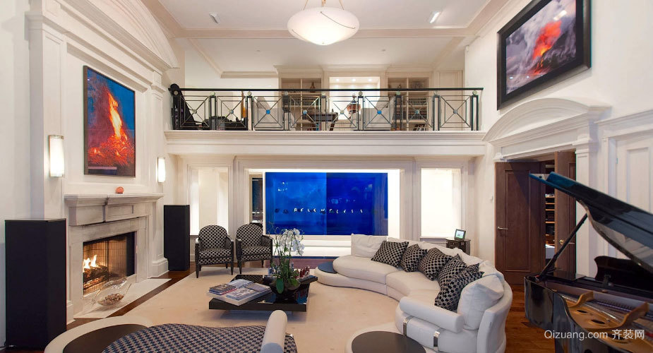 200平米一流的现代奢华复式公寓装修效果图