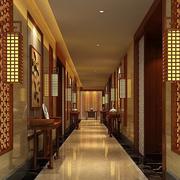 中式风格饭店走廊