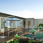 别墅露台花园展示