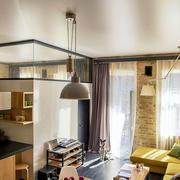 简约的单身公寓吊顶设计图