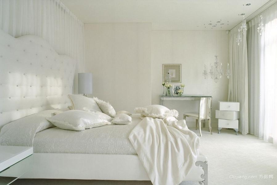 138平米居民楼纯白小卧室装修效果图