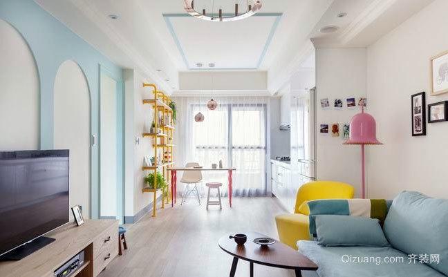 70平米小户型单身女青年最爱的粉色公寓装修