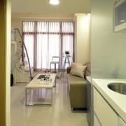 公寓简约大型客厅窗帘设计