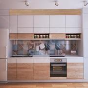 公寓一字型厨房设计
