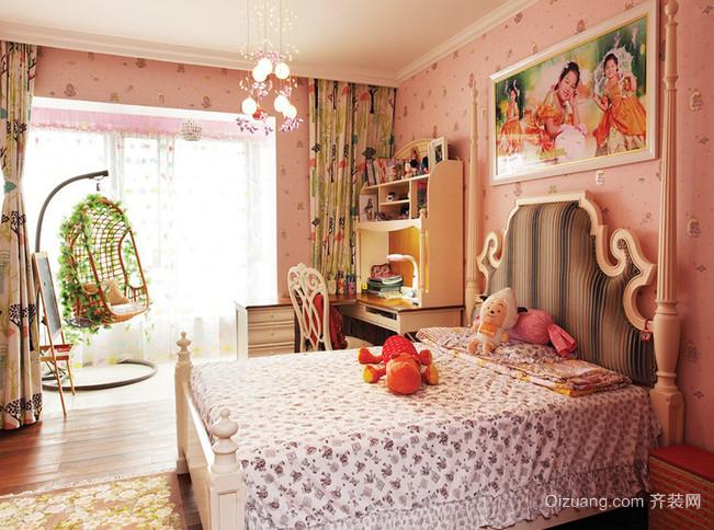 88平米经典的中式风格儿童房设计装修效果图