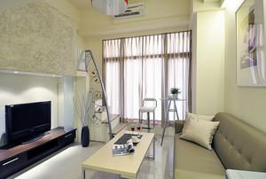 公寓米白色整体客厅装修