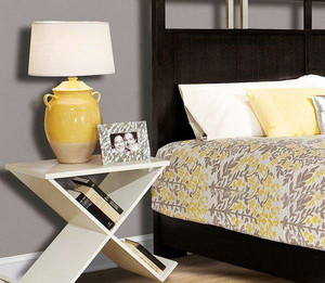 卧室交叉床头柜设计