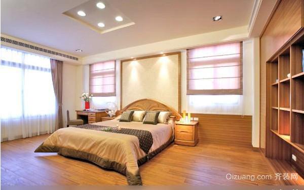 128平方古色古香深色卧室装修效果图