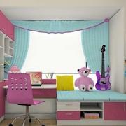 儿童房可爱窗帘装饰