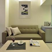 公寓抹茶绿客厅沙发装修