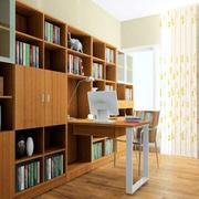 容量大的书房书柜装修