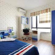 儿童房蓝色床