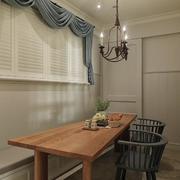 别墅木质餐桌设计