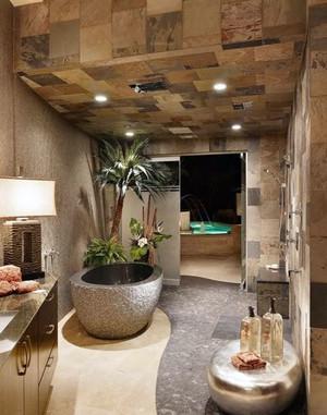 30平米瓷砖打造的完美浪漫卫浴间装修效果图