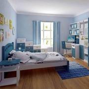 浅蓝色儿童房装修