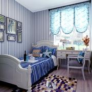 蓝色小型儿童房效果图