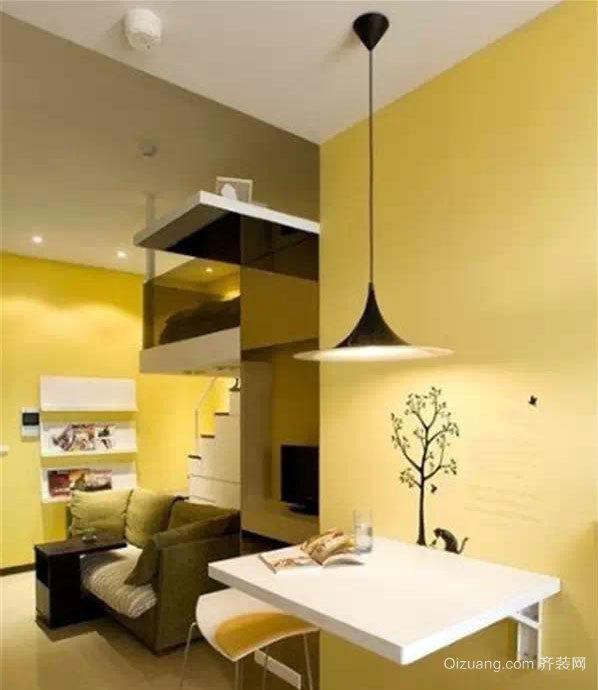 仅30平米两厅一室带厨房阳台的房屋装修效果图