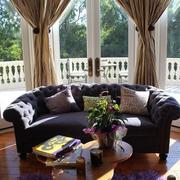 客厅古典窗帘设计