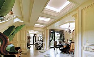 三室一厅地中海风格走廊吊顶装修效果图