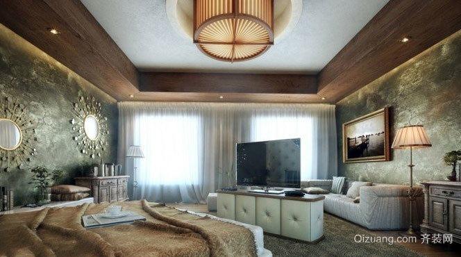 50平米时尚大气杜绝雷同的卧室装修效果图