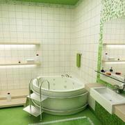 清新绿色卫生间装饰