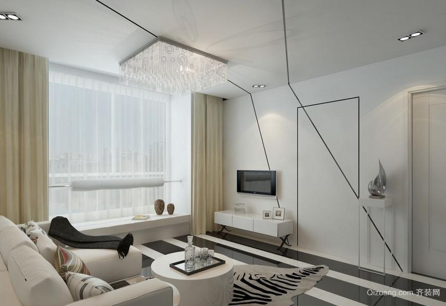 2015复式楼简约风格隐形门装修效果图