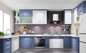 120平方开放式厨房精美实用橱柜设计效果图