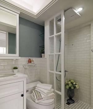 120平米美式风格水蓝色浪漫温馨房屋装修效果图