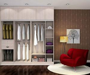 大气简欧风格整体衣柜效果图