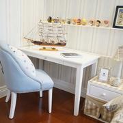 白色儿童房书桌图片