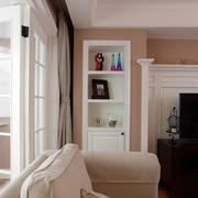 复式楼客厅收纳柜设计