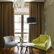 公寓客厅简约窗帘设计