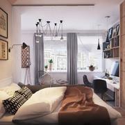 公寓卧室床图片