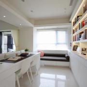 三室一厅书房书架设计展示