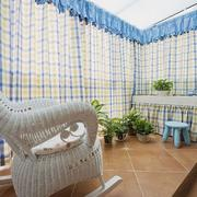 别墅地中海阳台窗帘设计