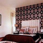 卧室简约床头背景墙设计