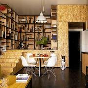 公寓精致的书房书架图片